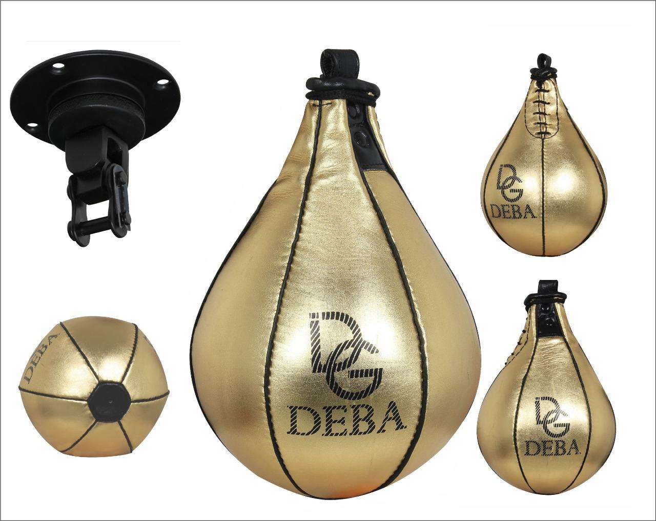 Reflexe Kickboxen Boxen Boxbirne Top Ten- Speedball aus echtem Leder Speed.